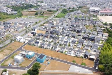 蔵波分譲地上空写真